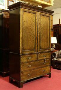 Englische Möbel Antik Kleiderschrank Diele Gentlemans Wardrobe Mahagoni Intars