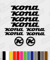 KONA Die-cut Decal Sticker sheet (cycling, mtb, bmx, bike, frame) - V2