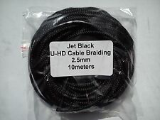 Cable Modders Expandable Braided Sleeving Jet Black 2.5mm x 10m