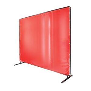 Revco 6' x 6' Welding Screen & Frame Saf-Vu 14 mil. Translucent Vinyl Orange
