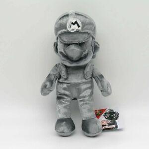 "Metal Mario Plush Super Mario Bros Toy 9.5"" OFFICIAL SANEI"