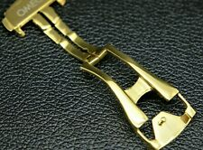 NEW REPLACEMENT 18MM GOLD CLASP/BUCKLE FOR OMEGA  SPEEDMASTER/SEAMASTER WATCH