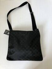 New Gucci 203998 Black Nylon Crossbody Messenger Bag