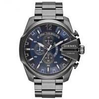 Montre chronographe pour homme Diesel DZ4329 Mega Chief Blue & Gun Metal IP