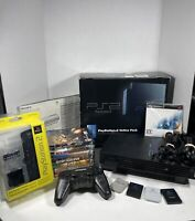 Playstation 2 Online Pack Console Bundle SCPH-50010/N Memory Cards Games Tested