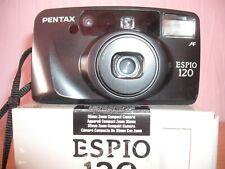 BOXED PENTAX ESPIO 120 35M FILM CAMERA~QUARTZ DATE~PANORAMA~38-120MM LENS 30MY12