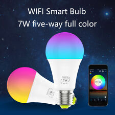 WiFi Smart Light Bulb E27 7W RGB+CW LED Lamp Amazon Alexa/Google Home Control