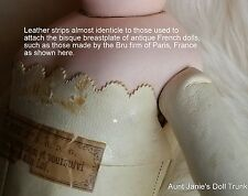 Amazing Find Bru Jne Doll Saw Tooth Scallop Leather Strap For Breast Plate
