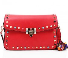 Ladies PU Leather Small Studded Cross body Bag Handbag Shoulder Party Clutch Bag