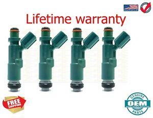 x4 Genuine Oem  Fuel Injectors SCION xA: 2004 - 2006 1.5L USA  23250-21020
