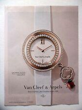 PUBLICITE-ADVERTISING :  VAN CLEEF & ARPELS Charms Mini  2015 Montres,Coccinelle