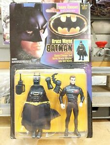 1990 Michael Keaton Batman Bruce Wayne quick change Dark Knight collection MOC