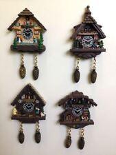 Set of 4 Swiss Cottage Fridge Magnets