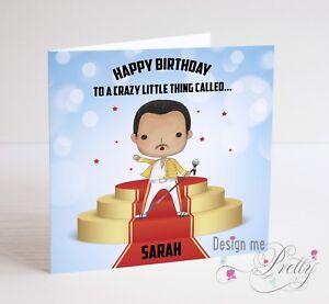 FREDDIE MERCURY Birthday Card - Husband Boyfriend Wife I Love You QUEEN