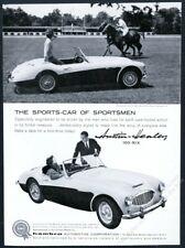 1959 Austin-Healey 100 6 car Blind Brook Polo Club photo vintage print ad