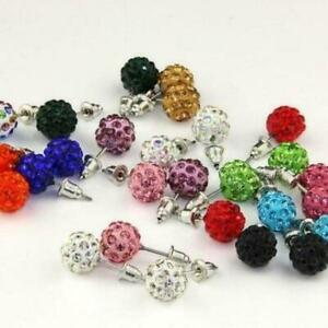 Ball Stud Earrings - 14 Pair