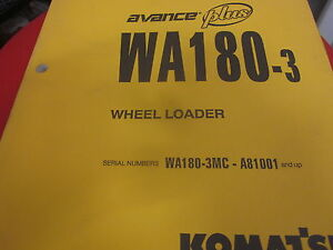 Komatsu WA180-3 Wheel Loader Operation & Maintenance Manual Year 2000