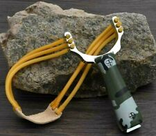 Powerful Camouflage Hunting Catapult Aiming Sight alloy Steel Slingshot kit