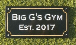 Black Granite Sign 300mm/150mm/10mm