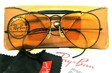 Ray-Ban USA Vintage 1980s B&L Aviator Ambermatic Outdoorsman BkChrome Sunglasses