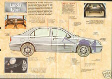 Lancia Lybra Berline Break EXECUTIVE Italia Italy 1999 Car Auto FICHE FRANCE