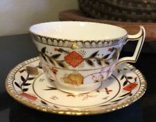 """Royal Crown Derby Gadroon Asian Rose 2 3/8"""" Footed Cup and Saucer - 9 Available"""