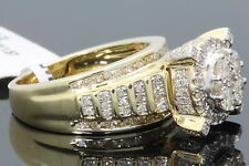 10K YELLOW GOLD 1.54 CARAT WOMENS REAL DIAMOND BRIDAL WEDDING ENGAGEMENT RING