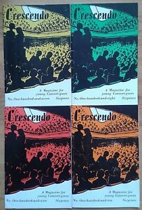 """Individual issues of Crescendo """"A Magazine for Young Concert-goers"""" Robert Mayer"""