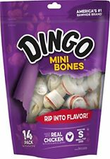 Dingo 95014 Mini Bones, Rawhide For Small/Toy Dogs, Red,14-Ct. 1/21+