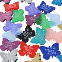Butterfly Wedding Favours Personalised Mr & Mrs Table Decorations Butterflies