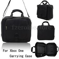 BLACK PREMIUM CONSOLE TRAVEL CARRYING CASE IN-CAR BAG FOR XBOX 360 / XBOX ONE FZ