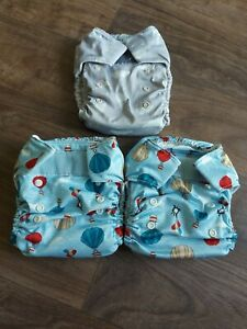 Bambino Mio Miosolo Birth To Potty All In One Reusable Nappies x3