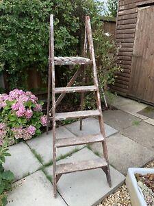 Old Vintage Wooden Step Ladder