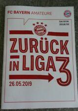 Programm Magazin Heft FC Bayern München FCB Amateure Saison 2019 2020 3.Liga