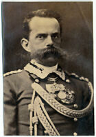 Reali italiani Re Umberto Savoia 1885c Medaglie Foto originale albumina S1238