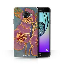 STUFF4 Phone Case for Samsung Galaxy A Smartphone/Floral Silk Effect/Cover