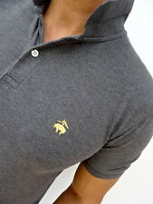 BROOKS BROTHERS £75RP Grey 'SLIM FIT' POLO TSHIRT Size MEDIUM Fit SMALL (1769)