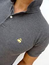 "Men's Brooks Brothers £ 75RP GRIGIO ""Slim Fit"" polo t-shirt taglia media (1768)"