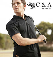 Mens Ladies Womens Unisex Adults Half Zip Paneled Golf Polo with Sun Protection