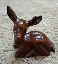 Deer Fawn Finest Quality Gas-Carved Wood Art Products Figure