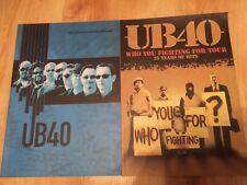 UB40 - X 2 Official tour programmes 2005 & 2007