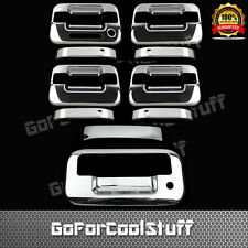 For Ford 04-14 F-150 Chrome 4Drs Handle W/O Pskh W/Keypad+Tailgate Cover W/Kh