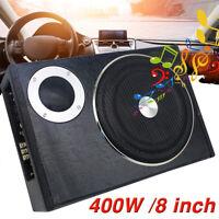 8'' Car Subwoofer Active Power Amplifier Kits Slim Enclosure Bass Speaker AMP