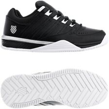 K-Swiss Baxter schwarz weiß Herren Leder Low-Top Sneakers Freizeitschuhe NEU