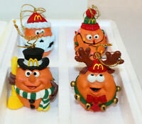 (4) Vintage McDonalds 1996 Chicken Christmas Tree Mcnugget Ornaments Rare NEW