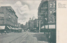 Brockton, Massachusetts, 1900-1910's; Main Street From School And High, Cable Ca