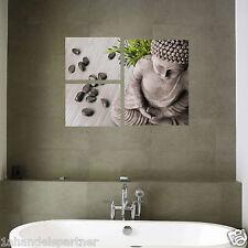 2x Premium Badezimmer Wandaufkleber Buddha Wandtattoo WC Bad Deko Aufkleber SET