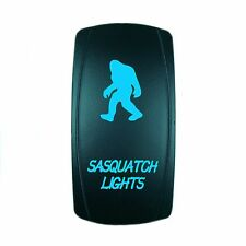 12V 20A ROCKER SWITCH LED SASQUATCH LIGHTS BLUE LASER LED UTV BOAT TRUCK