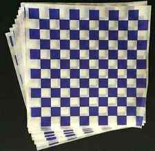 25 -12x12 PURPLE Checkerboard Deli Sandwich Food Wrap, Burger, Hot Dog Wax Paper