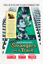 Strangers on a Train movie poster Hitchcock farley Granger ruth Roman 24X36